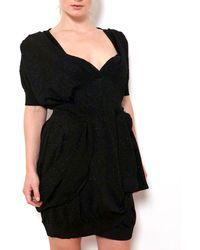 Coven - Black Lurex Dress - Lyst