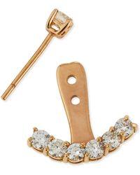 Anita Ko 18K Rose Gold Diamond Ear Jacket - Lyst