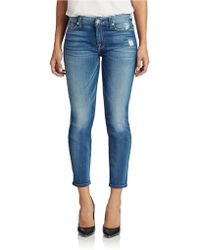 7 For All Mankind Kimmie Crop Skinny Jeans - Lyst