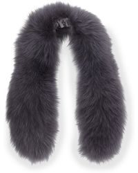 Alice + Olivia - Izzy Fox Fur Collar - Lyst