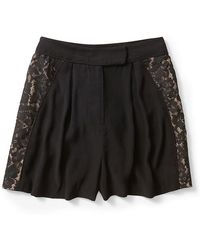 Zimmermann Crepe Lace Panel Short - Lyst