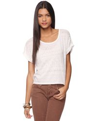 Forever 21 Angular Burnout Top - Lyst
