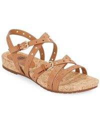 Söfft - Malana Perforated Leather Sandals - Lyst