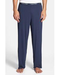 Calvin Klein 'U1143' Micromodal Lounge Pants blue - Lyst