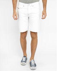 DIESEL   White Bustshort Shorts   Lyst