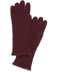 Halogen - 'touch Tech' Cashmere Gloves - Burgundy - Lyst