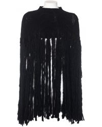 Agnona Wool And Cashmere Woven Mantle black - Lyst