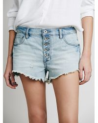 Free People Runaway Slouch Cut Off - Lyst