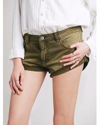 Free People Irreplaceable Cut Offs - Lyst