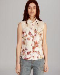 Karen Millen Top Tailored Relaxed Print - Lyst
