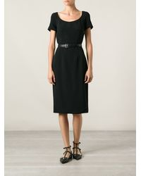 Dolce & Gabbana Black Fitted Dress - Lyst