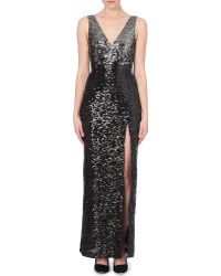 French Connection Cosmic Sparkle Sequinned Maxi Dress - Lyst