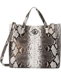 Armani Jeans Convertible Snakeprint Tote Bag - Lyst