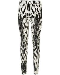 7 For All Mankind Antelope Print High-Waist Skinny Jeans - Lyst