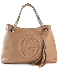 Gucci Brown 'Soho' Tote - Lyst
