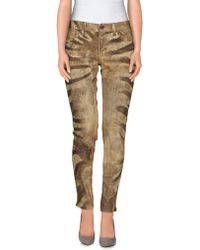 Ralph Lauren Denim Pants beige - Lyst