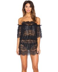 Queen & Pawn - Formentera Lace Off The Shoulder Dress - Lyst