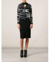 Versace Zebra Print Cardigan - Lyst