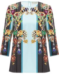 Mary Katrantzou Spellbound Top Pendant Ice Blue - Lyst