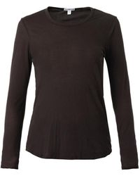James Perse Gray Longsleeved Tshirt - Lyst