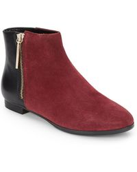 French Connection Two-Tone Leather & Suede Ankle Boots - Lyst