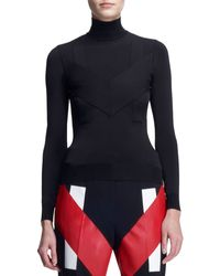 Givenchy Inlay Jersey Turtleneck - Lyst