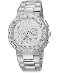 Versace Mystique Sport Stainless Steel Chronograph Dial Watch - Lyst