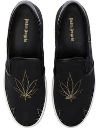 Palm Angels - Canvas Slip On Tuxedo Sneakers - Lyst