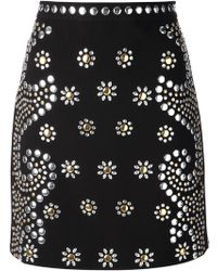 Moschino Cheap & Chic Embellished Skirt - Lyst