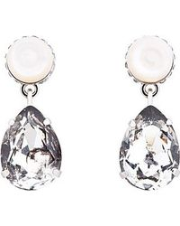 Givenchy Mother_of_pearl Cone and Pendant Obsidia Earrings - Lyst