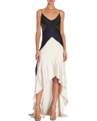 Narciso Rodriguez Colorblocked Highlow Gown - Lyst