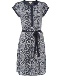 Linea Weekend Botanical Print Dress - Lyst