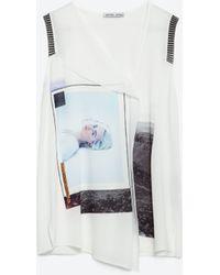 Zara | Girl Photo T-shirt | Lyst