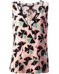 Marc By Marc Jacobs Pinwheel Flower Printed Blouse - Lyst