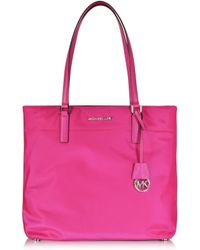 Michael Kors - Morgan Large Raspberry Nylon Tote Bag - Lyst