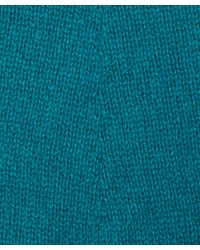 CASH CA - Teal Long Knit Cashmere Gloves - Lyst