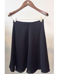 Giada Forte Mesh Skirt Notte Navy - Lyst