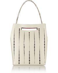 Jil Sander Perforated Leather Shoulder Bag - Lyst