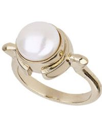 Topshop Freedom Found Pearl Ring - Lyst