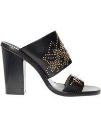 Chloé Gold Stud Heel Sandals - Lyst