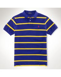 Polo Ralph Lauren Customfit Striped Polo Shirt - Lyst