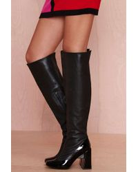 Nasty Gal Jeffrey Campbell Devolle Leather Boot - Lyst