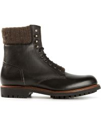 Grenson Brown Laceup Boots - Lyst