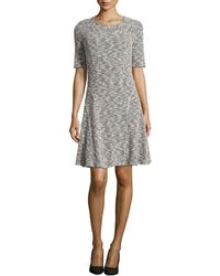 Nydj Short-Sleeve Flare Dress - Lyst