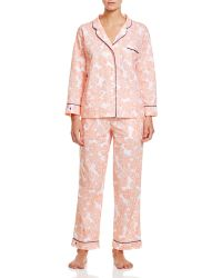 Marigot Collection - Marigot Orange Pinwheel Long Pajama Set - Lyst