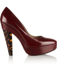 Stella McCartney Glossed Faux Leather Pumps - Lyst