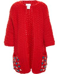 Wool And The Gang | Embellished Knitted Wool Cardigan | Lyst