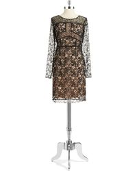 Ivanka Trump Lace Shift Dress - Lyst