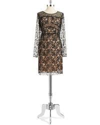 Ivanka Trump Lace Shift Dress - Lyst