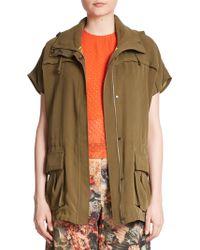 Alice + Olivia | Tate Short-sleeved Hooded Cargo Jacket | Lyst